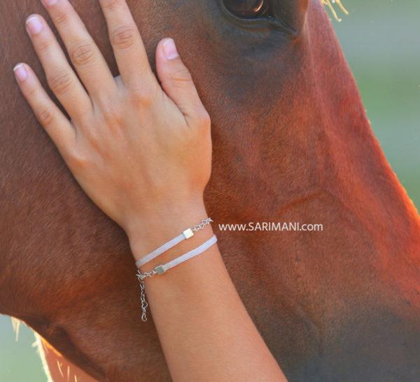 Armband aus Pferdehaaren