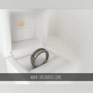 Ring aus Pferdehaar auf Silber mit Steinen
